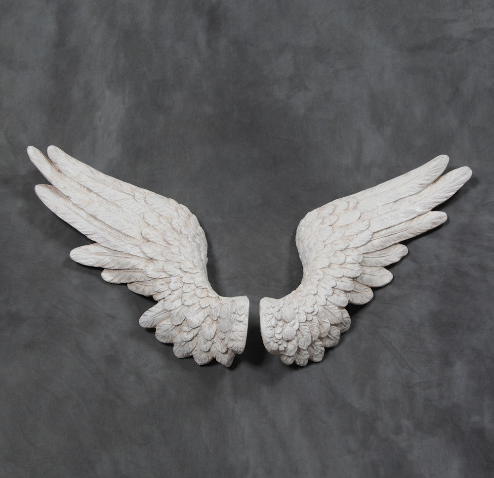 Large-Angel-Wings-Wall-Hanging-In-Antique-White