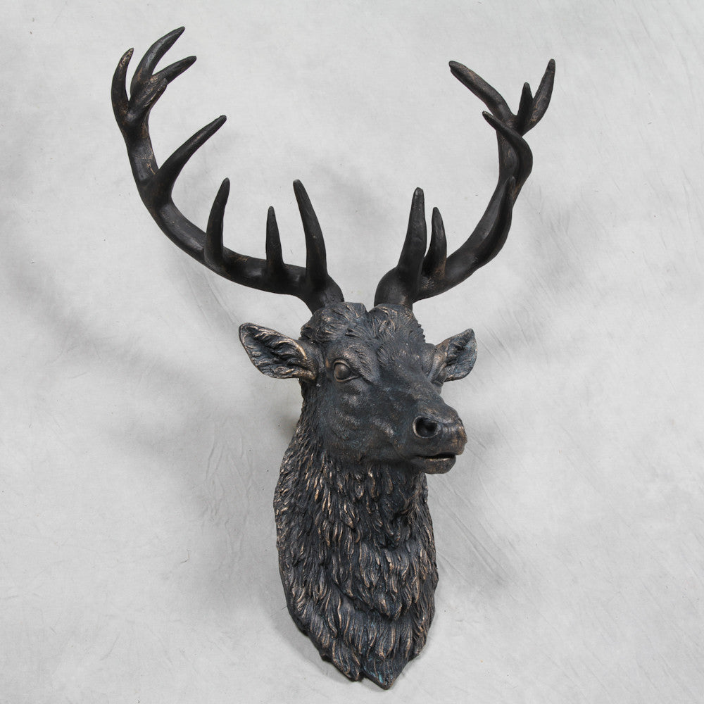 Steve-The-Stag-Wall-Hanging-Antique-Copper-Look-Finish