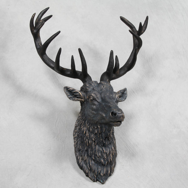 Steve The Stag Wall Hanging In Antique Copper Finish £89.99