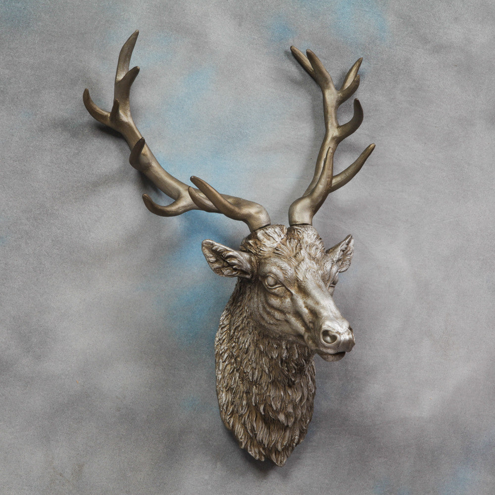 Stan-The-Stag-Wall-Hanging-Antique-Silver-Finish