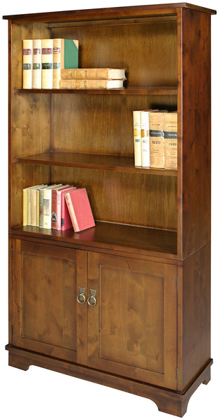 Burlington Tall Bookcase With Cupboard By Wood Bros (RRP £849)