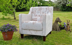 Beau Beautiful Mink Accent Chair Only £299