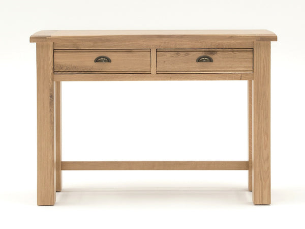 Broughton Premium Quality Light Oak Console Table