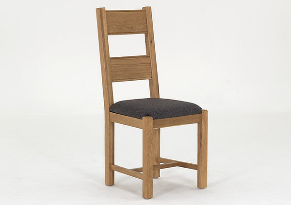 Broughton Light Oak Dining Chair - Grey