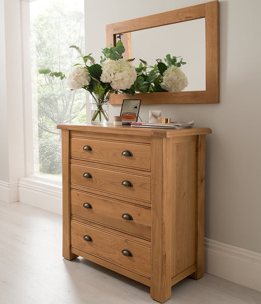 Broughton Premium Light Oak 4 Drawer Chest