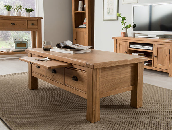 Broughton Premium Quality Light Oak Coffee Table