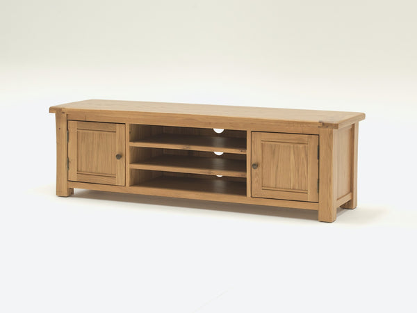Broughton Premium Light Oak Large 160cm Plasma TV Cabinet
