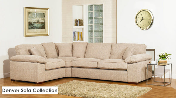 Denver Left Facing Corner Sofas By Buoyant - Modern Styling & Supreme Comfort