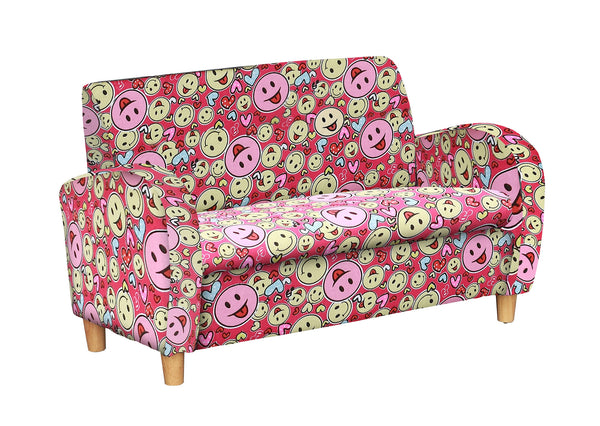 No Angels Chas Smileyface Fabric Kids Sofa