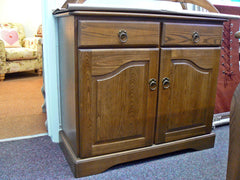 Beautiful Old Charm Cotswold Small Dark Wood Sideboard - Mocha Finish (MRP £759)