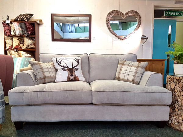 Cambridge Elegant & Sumptuous Dove Grey Large 2 Seater Sofa - Only £459 (RRP £858)