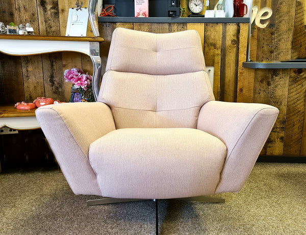 Marlborough Pink Swivel Chair – A Stunning Mid-Century Style Accent Chair