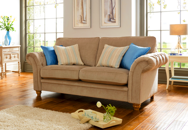 Caressa 2 Seater Sofa – Chesterfield Sofa Styling With Standard Back or Pillow Back