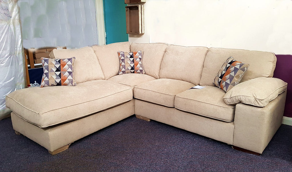 High End Store Carina LH Facing Neutral High Back Corner Sofa Only £999