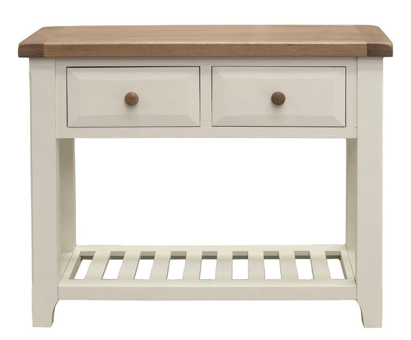 Chaumont Ivory & Oak Console Table - Only £199 (Was £329)