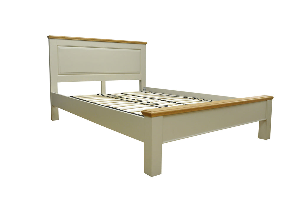 "Dijon Country Style Painted & Oak Top 5'0"" Kingsize Bed"