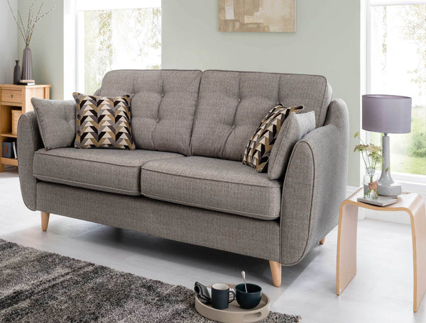 Daltrey Superb Quality Iconic Retro Style Grey 2 Seater Sofa In 5 Colourways