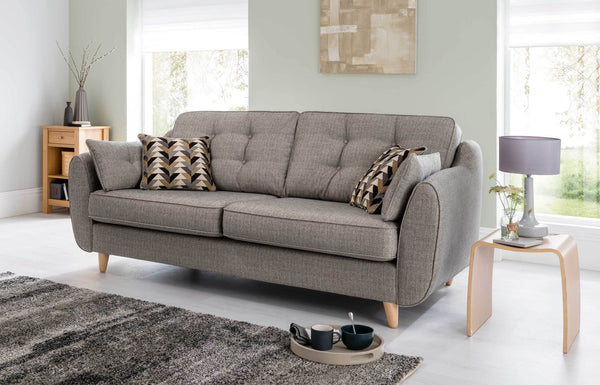 Daltrey Superb Quality Iconic 60s Style 4 Seater Sofa - 5 Colour Options