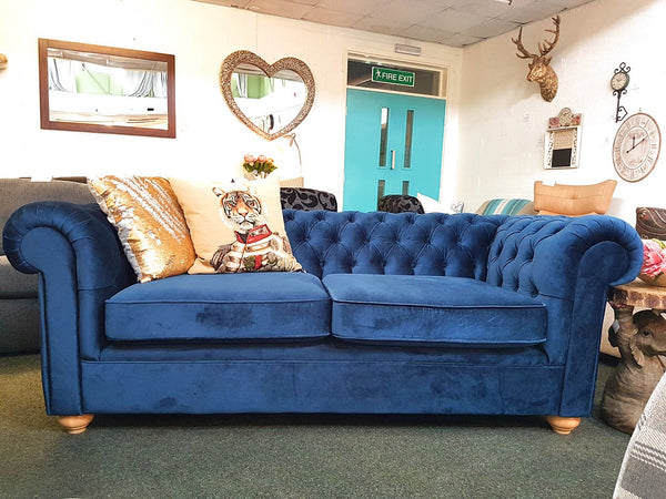 Debenhams Deluxe Large Teal Chesterfield Sofa - Only £799 (RRP £2,000)