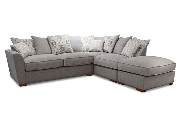 Buoyant Alexis Super Comfy Right Facing Pillow Back Corner Sofa & Free Footstool