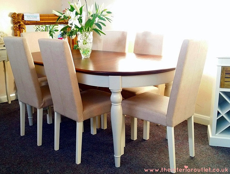 Debenhams Hampstead Oval Ext Dining Table Amp 6 Chairs Uk