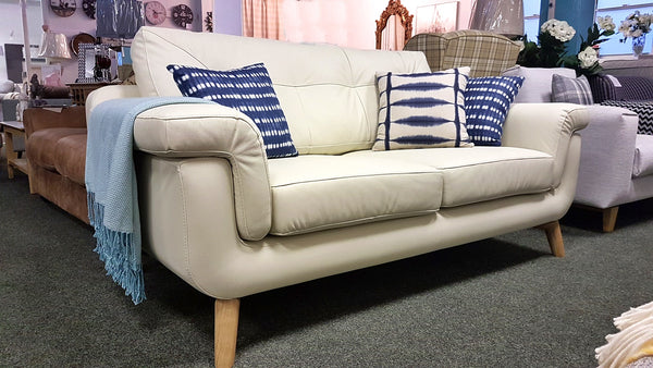 Hockney Distinctive Retro Style Leather 2.5 Seater Sofas