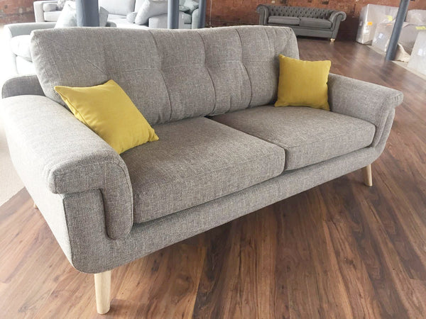 Hockney Distinctive Retro Style Fabric 3 Seater Sofas