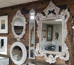 Large Ornate 130cm Rococo Shabby Chic Mirror - £129