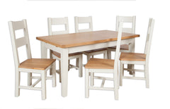 Melrose Ivory Painted 1.2m Extending Dining Table and 4 Chair Set
