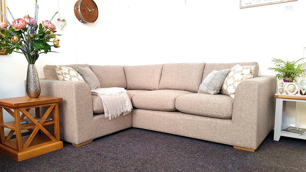 Debenhams Paris Left Facing Medium Taupe Corner Sofa - Only £999 (RRP £3100)