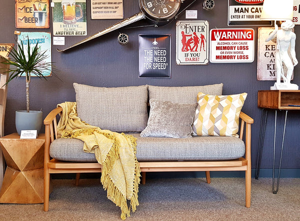 High End Dept Store Frome Mid-Century Style Bench Loveseat - £499 RRP £1,099