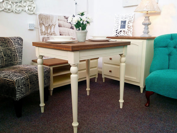 Cheap French Shabby Chic Furniture amp Free UK Delivery  : John Lewis Kitson Small ivory Ext Dining Table 2grande from www.theinterioroutlet.co.uk size 600 x 450 jpeg 49kB
