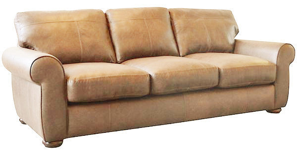 Madison Grande Leather Sofa - Save Approx 50% Off Store RRP