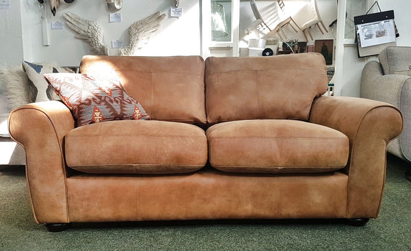 Madison Small Leather Sofas - Elegant & Stylish Only £859