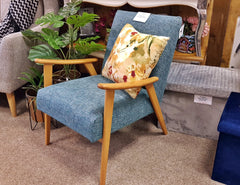 High End Store Kingston Mid-Century Style Teal Designer Armchair
