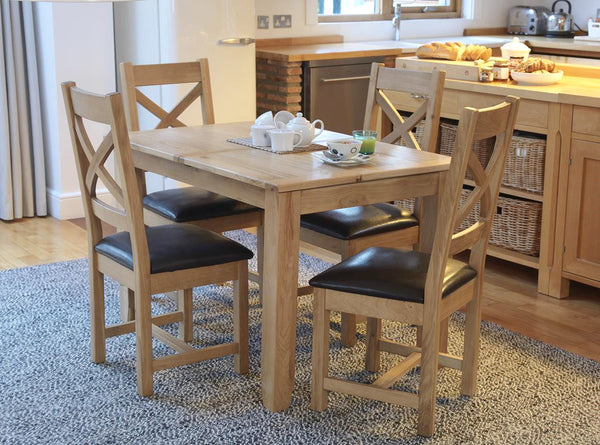 Kendal Solid Oak Extending Dining Table Set Only £499 | RRP £1,197