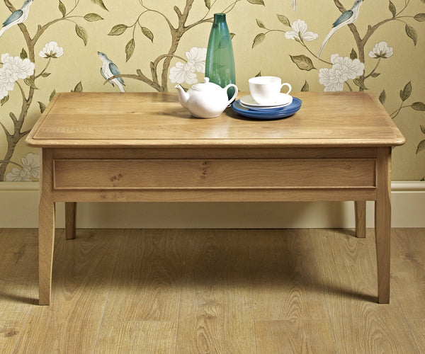 Ludlow Oak Coffee Table  (RRP £539) - Premium Oak Furniture By Wood Bros