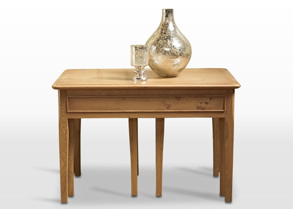 Ludlow Oak Nest Of Tables (RRP £819) - Premium Oak Furniture By Wood Bros