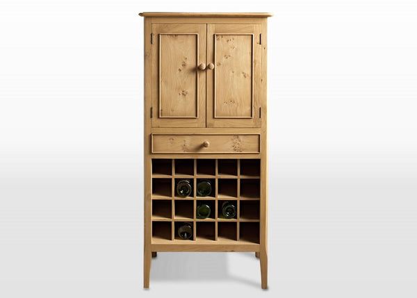 Wood Bros Ludlow Oak Drinks Cabinet Only £659  (RRP £1,259) - Premium Oak Furniture