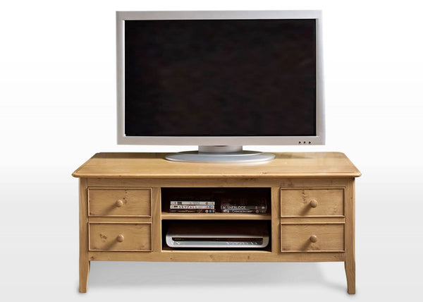 Ludlow Oak TV Cabinet 2947 (RRP £859) - Premium Oak Furniture By Wood Bros