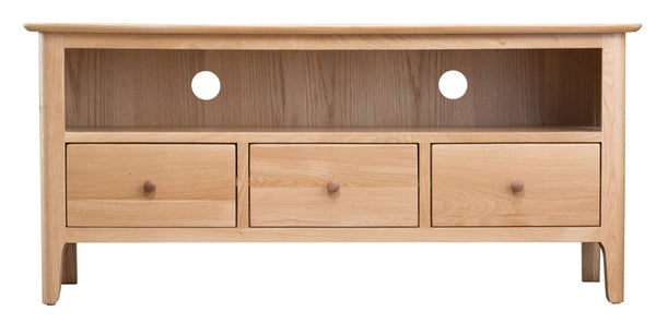 Norberg Mid Century Influenced Light Oak Large TV Cabinet