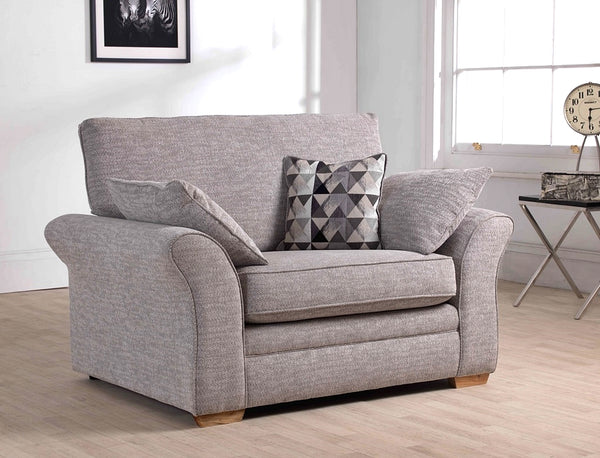 Marlborough Cuddler Chair - Super Stylish Modern Fabric Sofa Collection
