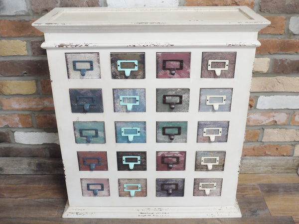 Distinctive Vintage Industrial Chic Apothecary Chest Of Drawers £139