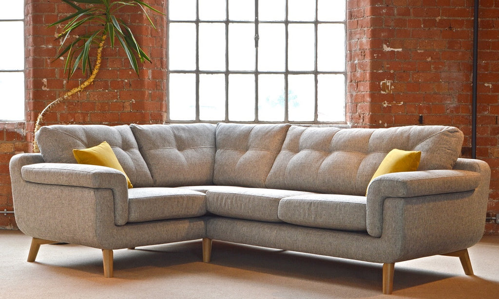 Hockney Sophisticated Bold Retro Style Left Facing Corner End Sofa