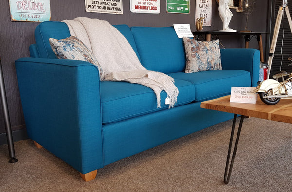 Leading Dept Store Portland Teal Sofa Bed RRP £1450 Ready To go Now!