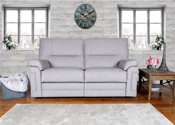Paloma Stylish & Modern 2 X Two Grey Seater Recliner Sofas