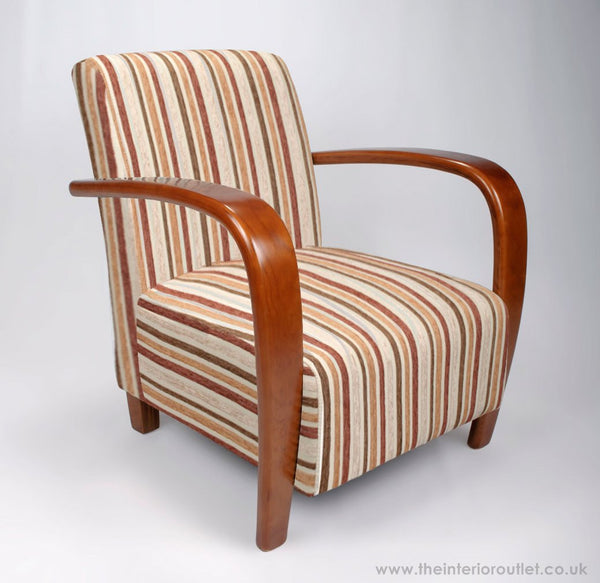Radley Gold Striped Retro Style Armchair - Free Delivery