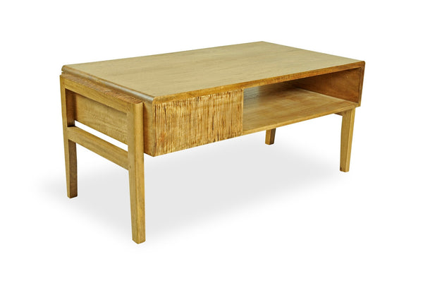 Rigmor Modern Mid-Century Danish Style Mango Wood Coffee Table