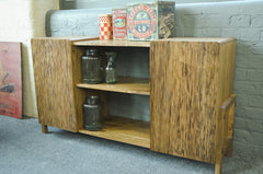 Modern Retro Look Rigmor Mango Wood Sideboard With Two Cupboards