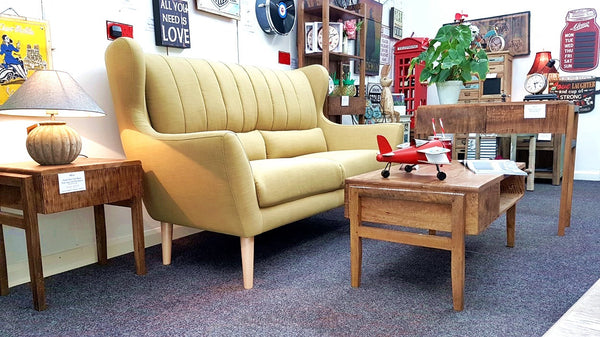 Rebel Large Sofa - Mid Century Influenced Sofa With Flared Wing Back